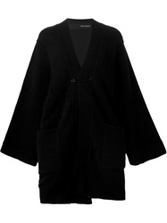 Isabel Benenato Long Oversized Cardigan Black