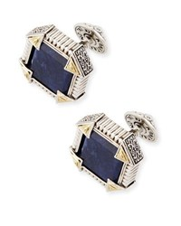 Konstantino Silver And 18K Gold Cuff Links With Sodalite