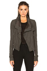 Rick Owens Blister Leather Classic Biker Jacket In Brown
