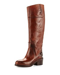 Cnc Costume National Leather Knee Boot Brown