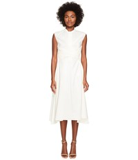 Belstaff Carissa Poplin Twist Front Dress White Women's Dress