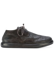 Marsell Lace Up Brogues Men Leather Suede Rubber 44 Black