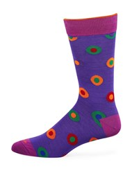 Duchamp Multicolor Polka Dot Cotton Socks Lavender