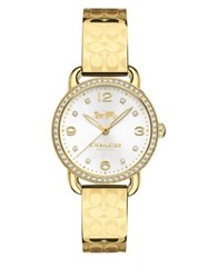 Coach Delancey Goldtone Stainless Steel Bangle Watch