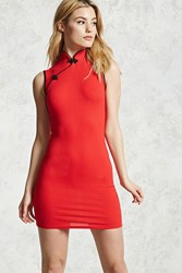 Forever 21 Contemporary Bodycon Dress Red Black
