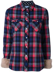 Guild Prime Chest Pockets Checked Shirt Blue