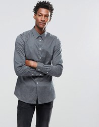 Paul Smith Shirt With All Over Spot Print In Tailored Slim Fit Petrol Blue
