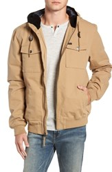 Rvca Hooded Bomber Jacket Dark Sand