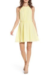 Lush Blouson Chiffon Skater Dress Banana