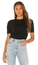 Pam And Gela Puff Sleeve Crew Neck Tee In Black.