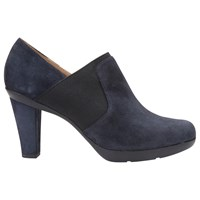 Geox Inspiration High Cone Heel Shoe Boots Navy Suede