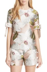 Ted Baker 'S London Chatsworth Bloom Bow Sleeve Top Dusky Pink