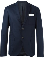 Neil Barrett Two Button Blazer Blue