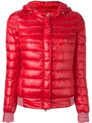 Herno Hooded Puffer Jacket Red