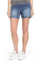 Jag Jeans Women's Ainsley Pull On Denim Shorts Dark Indigo