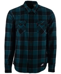 Levi's Men's Philadelphia Eagles Plaid Barstow Western Long Sleeve Shirt Black