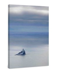 Marmont Hill Tillamook Rock Lighthouse Painting Print On Wrapped Canvas Blue Grey