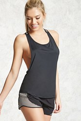 Forever 21 Active Abstract Back Tank Top Black White