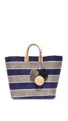 Mar Y Sol Capri Tote Dark Navy