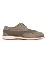 Swims Beige Oxford Brogues With Orange Outsole Brown