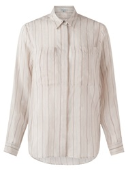 Jigsaw Stripe Voile Shirt Ivory