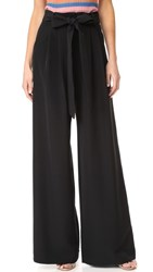 Milly Trapunto Trousers Black
