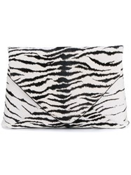 Dries Van Noten Zebra Print Clutch Black