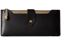 Lodis Blair Unlined Sandy Multi Pouch Wallet Black Taupe Wallet Handbags