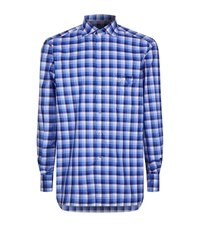 Stefano Ricci Bold Check Shirt Male Blue