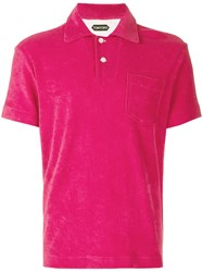 Tom Ford Classic Polo Shirt Pink And Purple