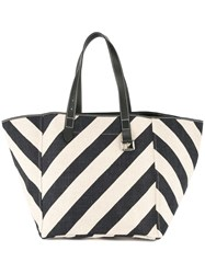 J.W.Anderson Jw Anderson Striped Shopping Tote Blue