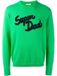 Sun 68 Super Dad Patch Sweater Green