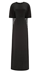Tibi Gobi Fringe Long Dress