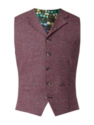 Gibson Men's Red Dogtooth Waistcoat Red