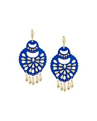 Fragments For Neiman Marcus Cutout Statement Earrings Blue