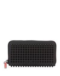 Christian Louboutin Men's Panettone Studded Leather Wallet Black