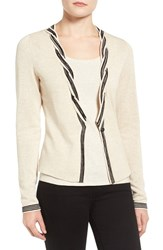 Nic Zoe Women's Twisted Tint Cardigan Sand Shell