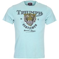 Barbour International Graphic Tiger T Shirt Washed Aqua