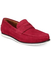 Alfani Men's Sawyer Slip On Loafers Created For Macy's Men's Shoes Red