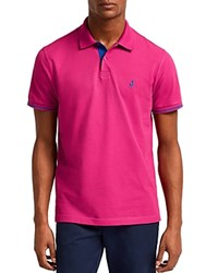 Thomas Pink Brandon Plain Classic Fit Polo Deep Pink Blue