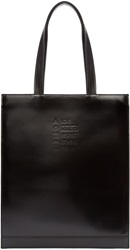 Kenzo Black Leather Laundry List Tote