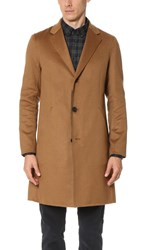 Theory Delancey Reish Cashmere Overcoat Camel