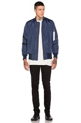 Stampd Strapped Bomber Jacket Blue
