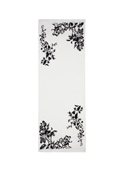 Janavi 'Floral Vines' Embroidered Cashmere Scarf White