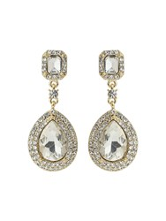 Mikey Multi Layered Crystal Oval Drop Earring Silverlic