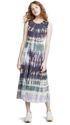 Raquel Allegra Big Sweep Tie Dye Dress Violet