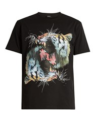 Marcelo Burlon Vicente Cotton Jersey T Shirt Black Multi