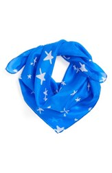 Lulla Collection By Bindya Women's Star Print Scarf Royal Blue
