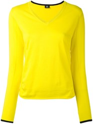 Paul Smith Ps By V Neck Jumper Women Cotton Xs Yellow Orange