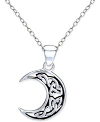 Giani Bernini Celtic Half Moon Pendant Necklace In Sterling Silver Only At Macy's